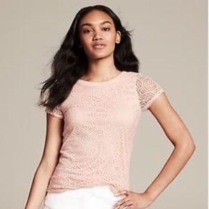 New Banana Republic Lace Top